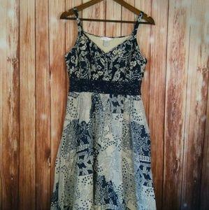 🛍️August Silk sz 10 silk cotton summer dress